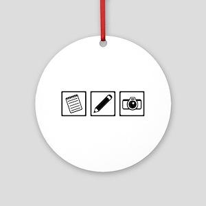 Journalist equipment Round Ornament