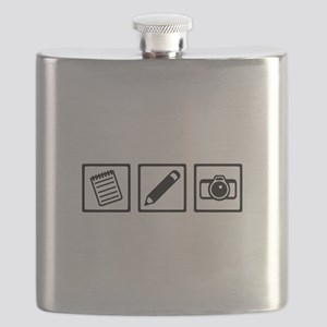 Journalist equipment Flask