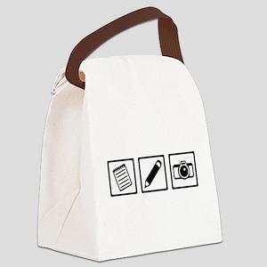 Journalist equipment Canvas Lunch Bag