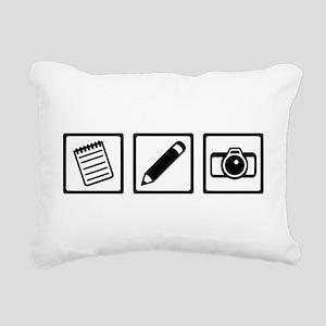 Journalist equipment Rectangular Canvas Pillow