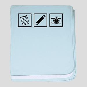 Journalist equipment baby blanket
