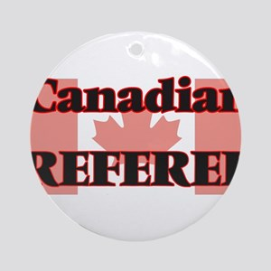 Canadian Referee Round Ornament