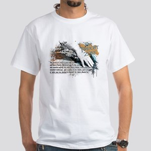 Last Man on Earth Glasses White T-Shirt