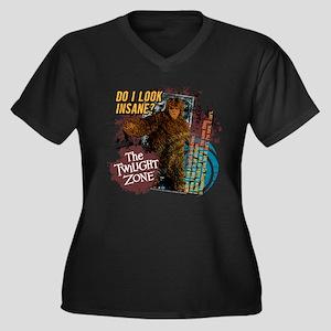 Thing on the Women's Plus Size V-Neck Dark T-Shirt