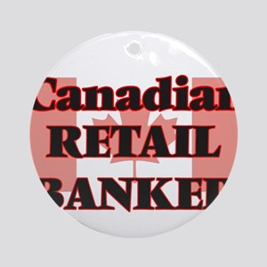 Canadian Retail Banker Round Ornament