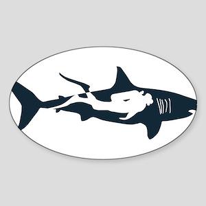 shark scuba diver hai tauchen taucher divi Sticker