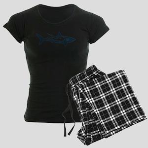 shark scuba diver hai tauche Women's Dark Pajamas