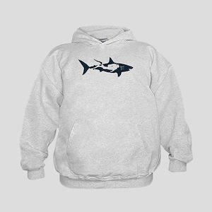 shark scuba diver hai tauchen taucher Kids Hoodie