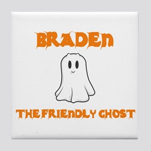 Braden the Friendly Ghost Tile Coaster