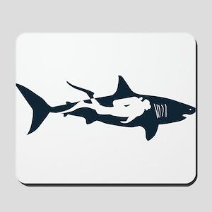 shark scuba diver hai tauchen taucher di Mousepad