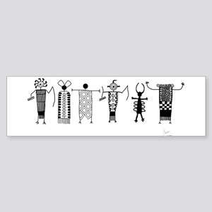 Group of Petroglyph Peoples Bumper Sticker