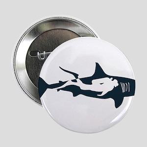 """shark scuba diver hai tauc 2.25"""" Button (100 pack)"""