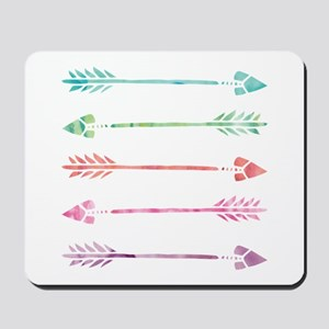 Rainbow Watercolor Arrows Mousepad