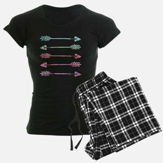 Rainbow Watercolor Arrows Pajamas