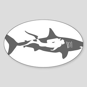 shark scuba diver hai taucher diving Sticker