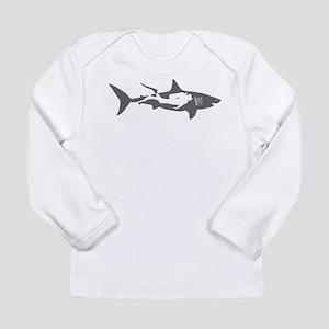 shark scuba diver hai taucher Long Sleeve T-Shirt