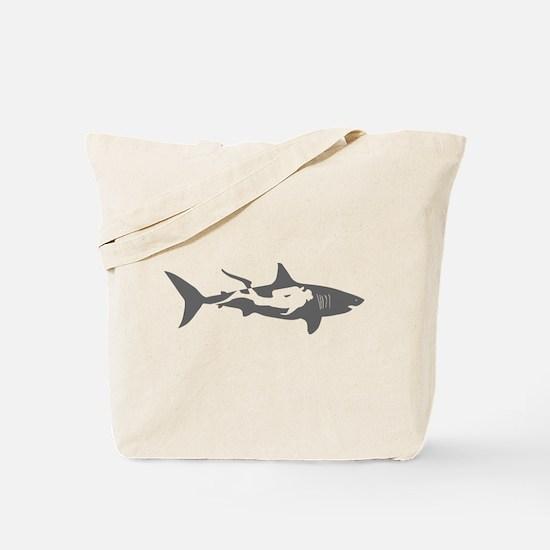 shark scuba diver hai taucher diving Tote Bag