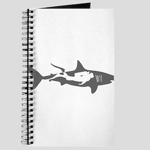 shark scuba diver hai taucher diving Journal