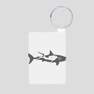 shark scuba diver hai taucher diving Keychains
