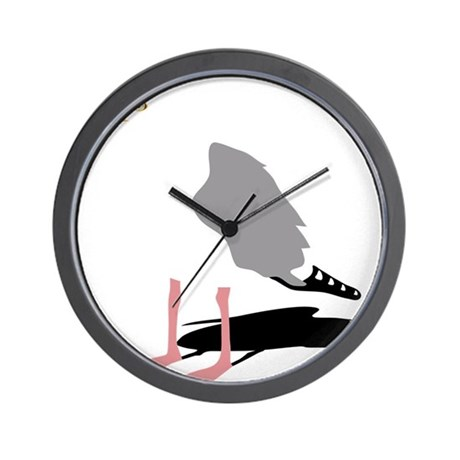 M 246 We Seagull Gull Bird Harbour Beach Sa Wall Clock By