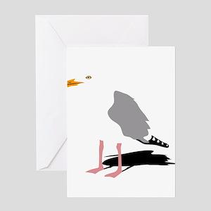 möwe seagull gull bird harbour beac Greeting Cards