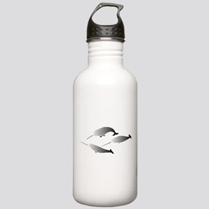 whale whales narwal na Stainless Water Bottle 1.0L