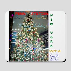 PENN STATION NY CHRISTMAS TREE. Mousepad