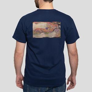 Water Serpents ii by Klimt Dark T-Shirt