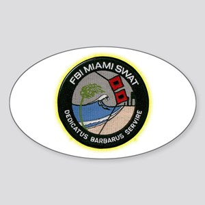 FBI Miami SWAT Sticker (Oval)