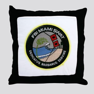 FBI Miami SWAT Throw Pillow