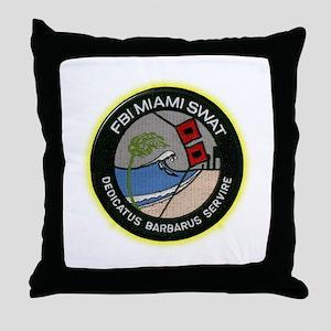 FBI Miami SWAT Throw Pillow
