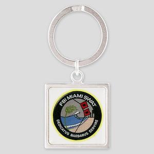 FBI Miami SWAT Square Keychain