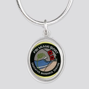 FBI Miami SWAT Silver Oval Necklace