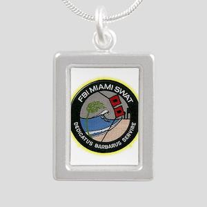 FBI Miami SWAT Silver Portrait Necklace