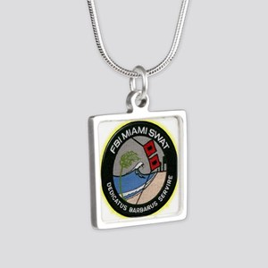 FBI Miami SWAT Silver Square Necklace