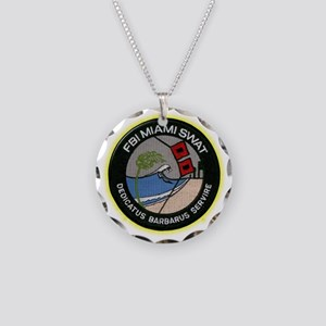 FBI Miami SWAT Necklace Circle Charm