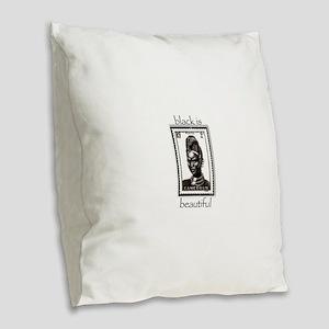 beautiful woman Burlap Throw Pillow