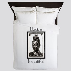 beautiful woman Queen Duvet