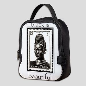 beautiful woman Neoprene Lunch Bag