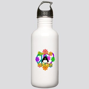 Peace Love Penguins Stainless Water Bottle 1.0L