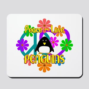 Peace Love Penguins Mousepad