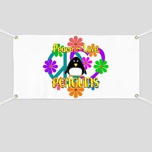 Peace Love Penguins Banner