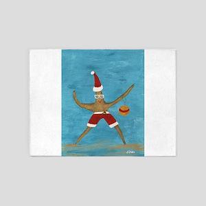 Christmas Starfish 5'x7'Area Rug