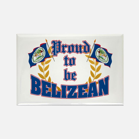 Proud to be Belizean Rectangle Magnet