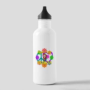 Peace Love Monkeys Stainless Water Bottle 1.0L