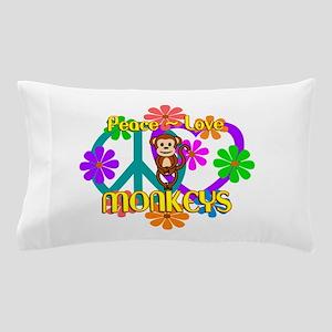 Peace Love Monkeys Pillow Case