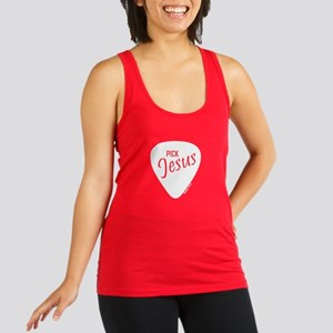 Pickjesus_4light Racerback Tank Top