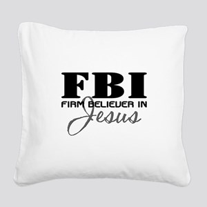 FBI_4Light Square Canvas Pillow
