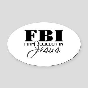 FBI_4Light Oval Car Magnet