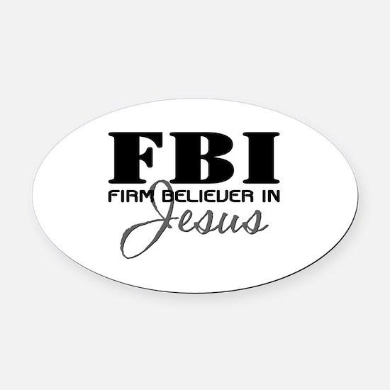 FBI_4Light.png Oval Car Magnet